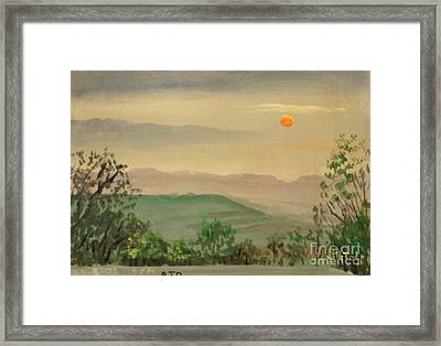 Off The Deck 7pm Framed Print by Art By Tolpo Collection
