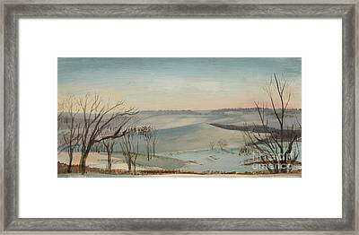 Off The Deck In Winter Framed Print by Art By Tolpo Collection