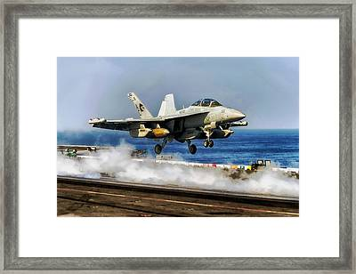 Off The Deck Framed Print