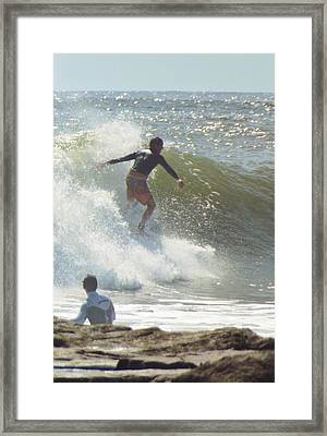 Off The Jetty Framed Print