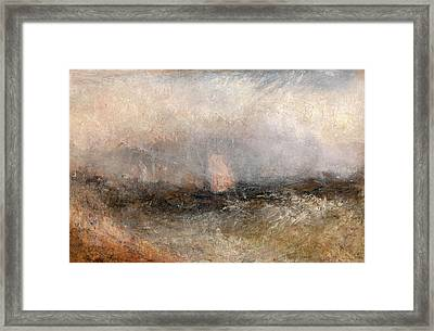 Off The Nore Squally Weather, Joseph Mallord William Turner Framed Print by Litz Collection