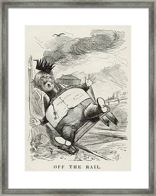 'off The Rail' The Speculations Framed Print