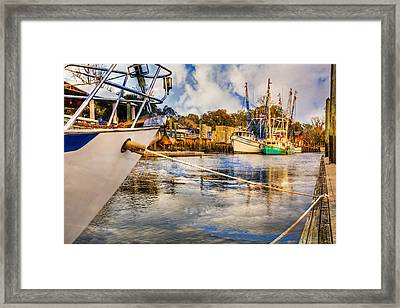 Off The Starboard Bow Framed Print by Debra and Dave Vanderlaan