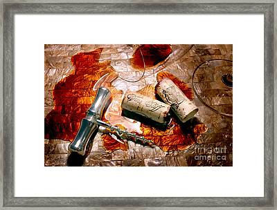 Off The Vine Framed Print