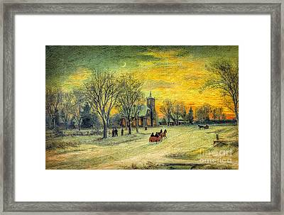 Off To Church - Christmas Eve Services Framed Print