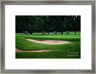 Off To Golf We Go Framed Print by Frank J Casella