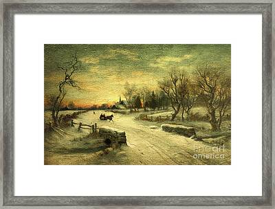 Off To Grandmas - Christmas Morning Framed Print