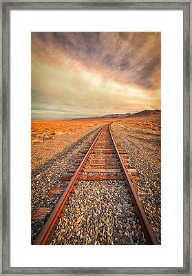 Off To Nowhere Framed Print