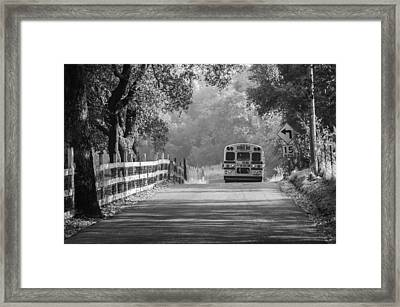 Framed Print featuring the photograph Off To School 2 by Sherri Meyer