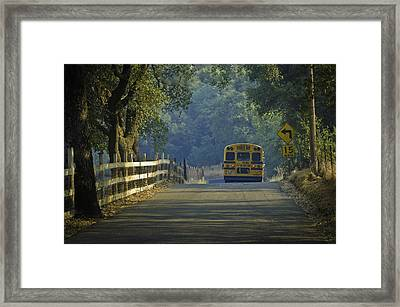 Off To School Framed Print