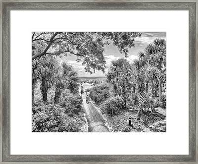 Framed Print featuring the photograph Off To The Beach by Howard Salmon