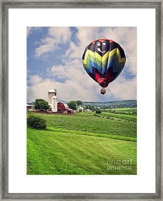 Off To The Land Of Oz Framed Print by Edward Fielding