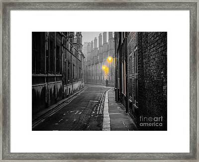 Off To Work Framed Print by David Warrington