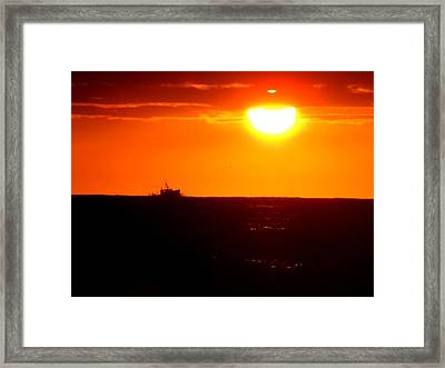Off To Work Framed Print by Donnie Freeman