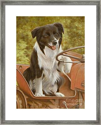 Off To Work Framed Print by John Silver