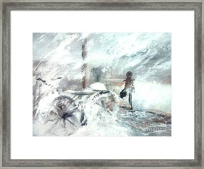 Off To Work Framed Print by Trilby Cole