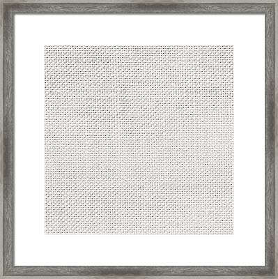 Off White Textile Framed Print by Tom Gowanlock