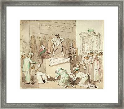 Offering Gold To Charles James Fox Framed Print by British Library