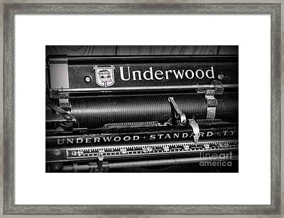 Office - Antique Typewriter Framed Print by Paul Ward
