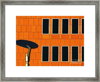 Office Black Out Framed Print