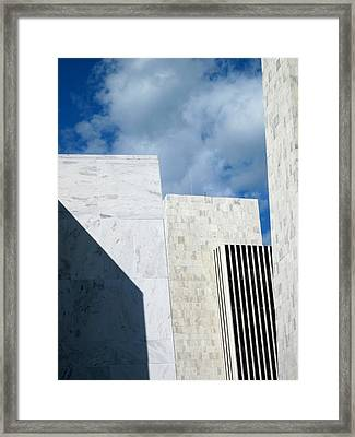 Framed Print featuring the photograph Office Building Abstract by Mary Bedy