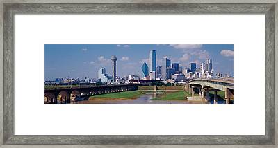 Office Buildings In A City, Dallas Framed Print by Panoramic Images