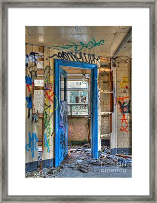 Office Closed Framed Print by David Birchall