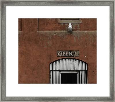 Office Door - Architecture Framed Print