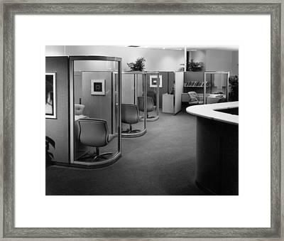 Office Interior Framed Print