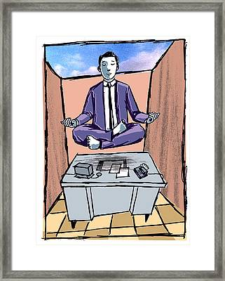 Office Meditation Framed Print