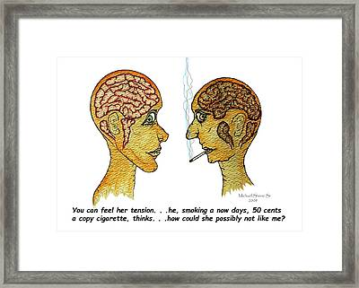 Office Memo Does She Like Me? Framed Print
