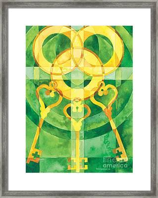 Office Of The Keys Framed Print