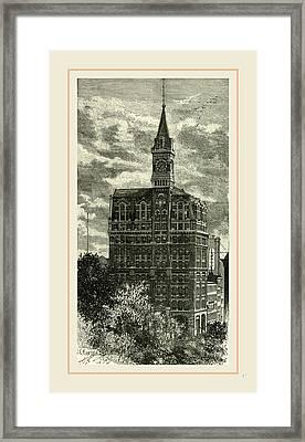Office Of The New York Tribune, 1891 Framed Print