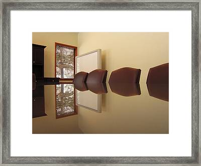Office Reflection 2 Framed Print by Mary Bedy