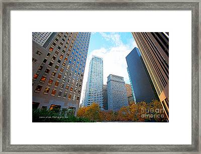 Office Space For Rent In Downtown San Francisco Framed Print by Artist and Photographer Laura Wrede
