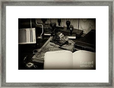 Office - The Recordkeeper Framed Print by Paul Ward