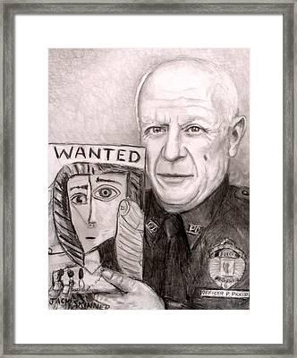 Officer Picasso Police Sketch Artist Framed Print by Jack Skinner