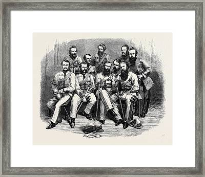 Officers Of The 1st Punjaub Volunteer Rifle Corps Framed Print by English School