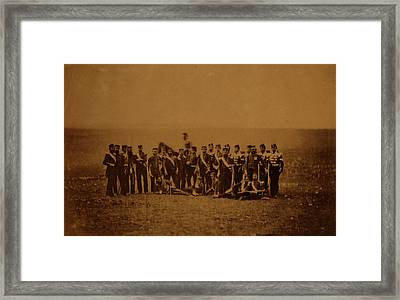 Officers Of The 88th Regiment, Crimean War Framed Print by Quint Lox