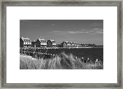 Framed Print featuring the photograph Officers Row - Sandy Hook by Vicki DeVico
