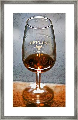 Offley Port Wine Glass Framed Print by David Letts