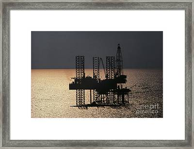 Offshore Drill Rig Platform Framed Print by Tim Holt