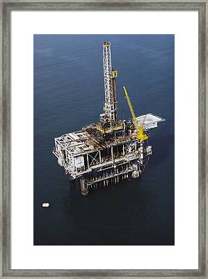 Offshore Drilling Rig Framed Print by Earl Roberge