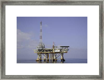 Framed Print featuring the photograph Offshore Gas Platform by Bradford Martin