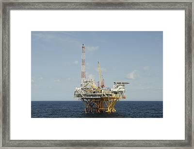 Offshore Natural Gas Platform Framed Print