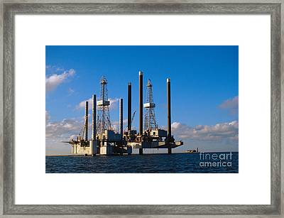 Offshore Oil Drilling Platform Framed Print by Gregory G. Dimijian, M.D.