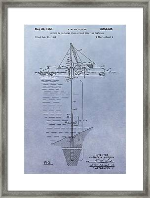 Offshore Oil Platform Patent Framed Print by Dan Sproul