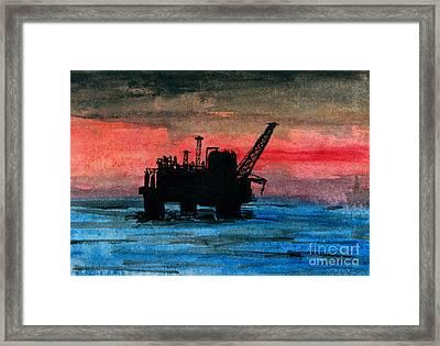 Offshore Oil Framed Print