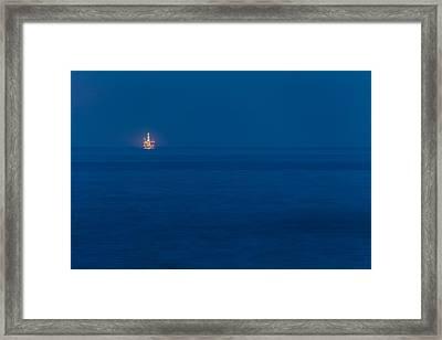 Offshore Rig Framed Print