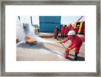 Offshore Safety Training Framed Print by Ashley Cooper